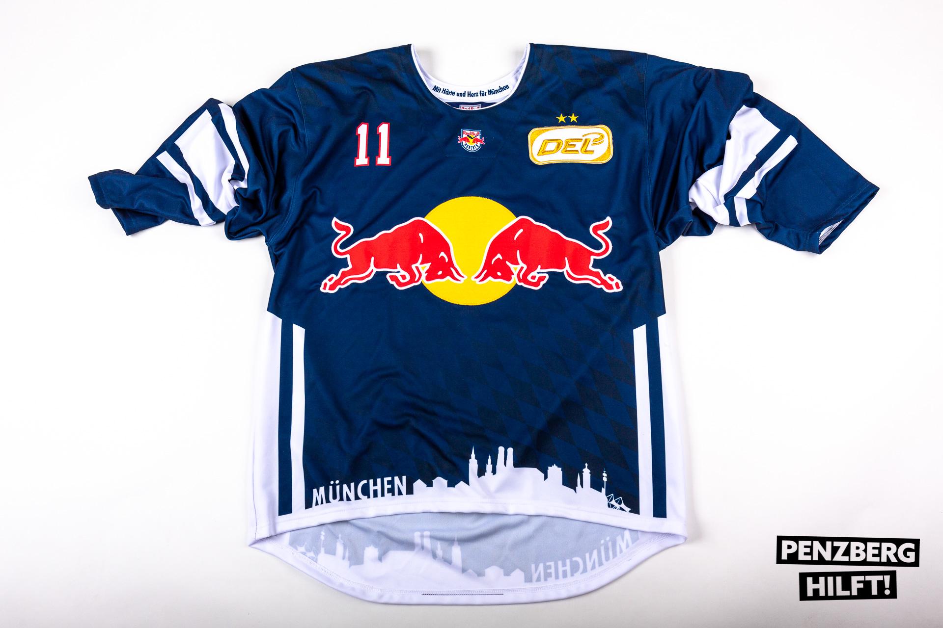 Ehc Red Bull München Original Spielertrikot Mit Unterschriften